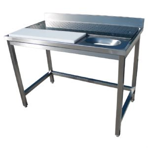 Table inox lave légumes 1400x700mm BERTRAND