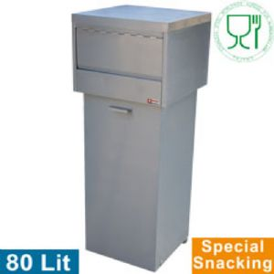 Poubelle inox snacking 80 litres DIAMOND - PCR / SK