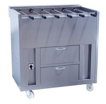 Barbecue en inox au Charbon professionnel 12 broches rotatives GRELHACO