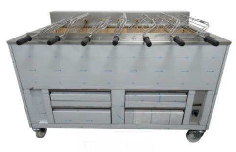 Barbecue portugais professionnel avec grilles rotatives