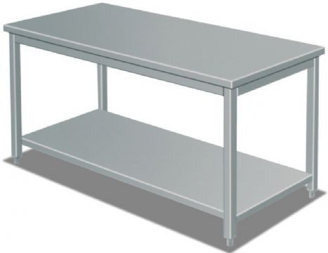 Table inox adoce avec etagere 1800x600x850mm