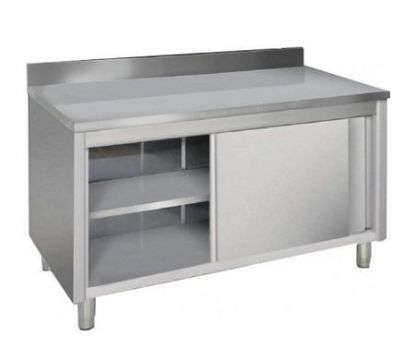 Meuble inox portes coulissantes 1200mm