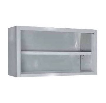 Placard inox mural ouvert - Longueur 1600mm