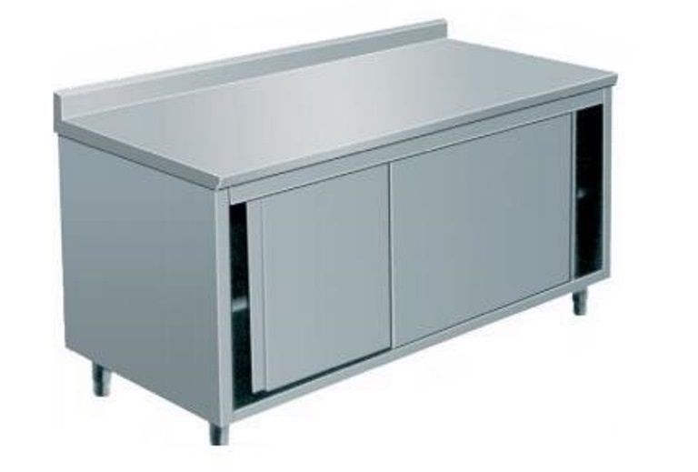 Meuble inox portes coulissantes 1000mm